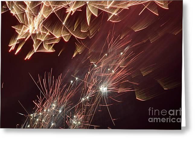 Fireworks On Bastille Day Greeting Card by Sami Sarkis