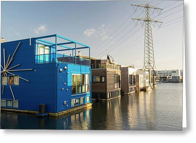 Floating House In Amsterdam Greeting Card