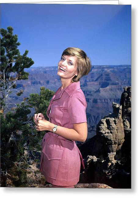 Florence Henderson In The Brady Bunch  Greeting Card by Silver Screen