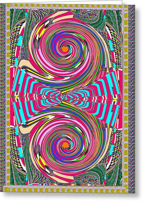 Focus Target Yoga Mat Chakra Meditation Round Circles Roulette Game Casino Flying Carpet Energy Mand Greeting Card