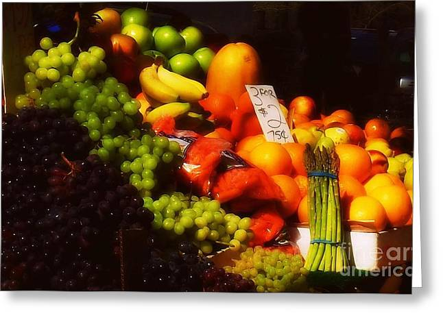 Greeting Card featuring the photograph 3 For 2 Dollars by Miriam Danar