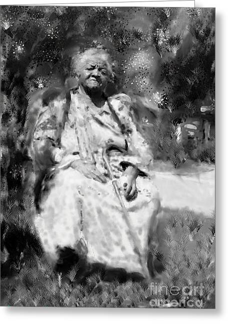 Former Slave Woman Greeting Card by Vannetta Ferguson