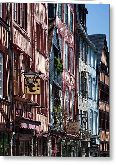 France, Normandy, Rouen, Half-timbered Greeting Card