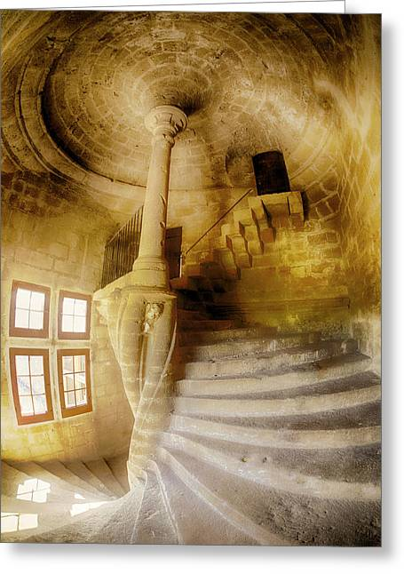France, Provence, Lourmarin, Spiral Greeting Card by Terry Eggers
