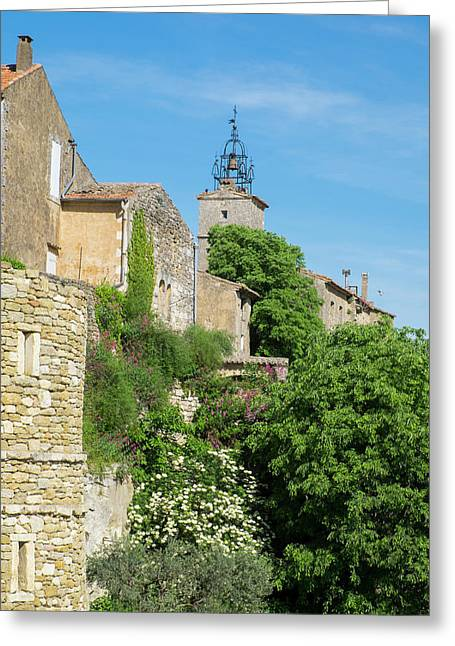 France, Provence, Luberon, Menerbes Greeting Card