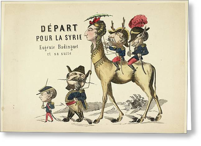 French Caricature Greeting Card
