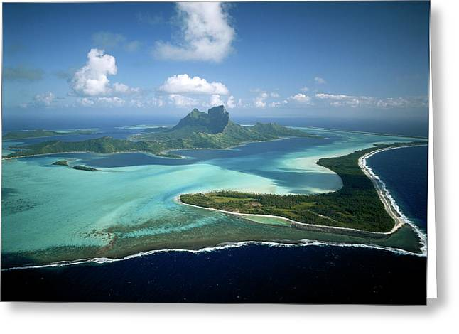 French Polynesia, Tahiti, Bora Bora Greeting Card by Douglas Peebles