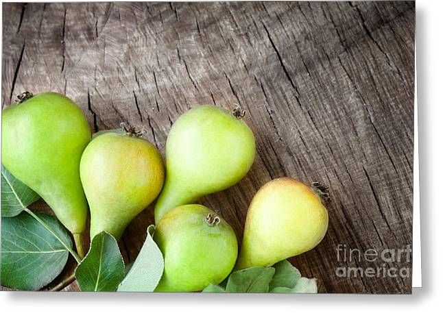 Freshly Harvested Pears Greeting Card