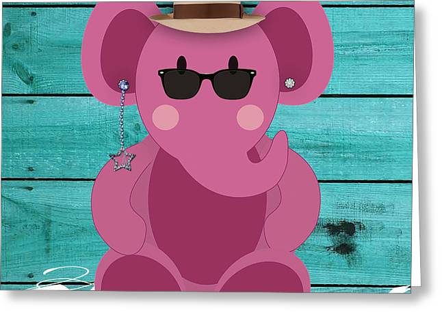 Friendly Elephant Art Greeting Card by Marvin Blaine