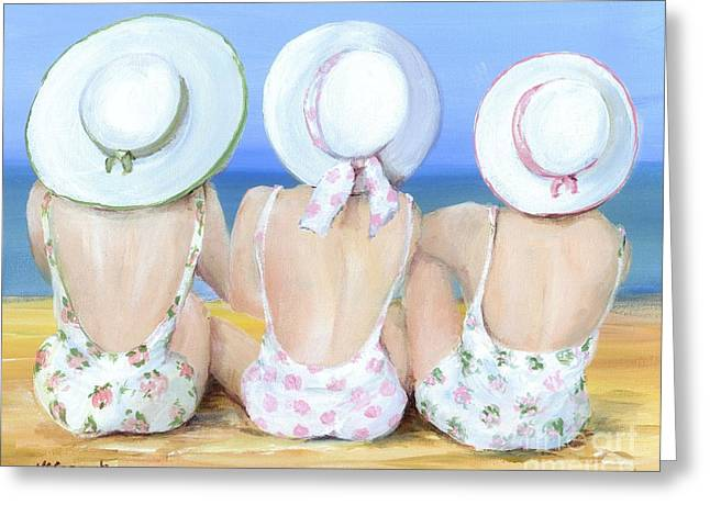 3 Friends At The Beach Greeting Card by Gail McCormack