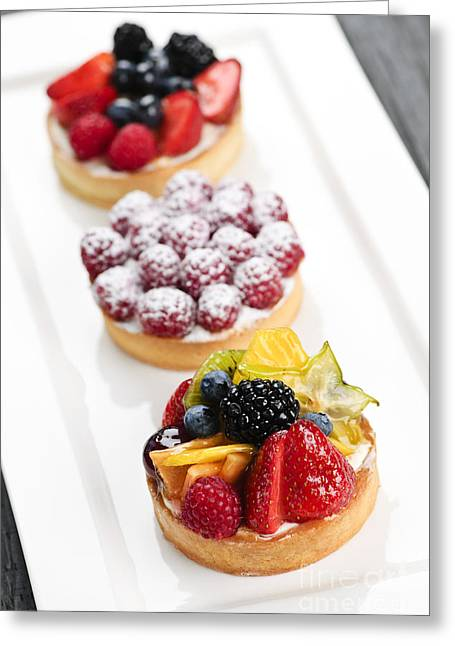 Fruit Tarts Greeting Card