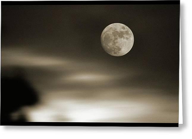 Full Moon Rising Greeting Card by Detlev Van Ravenswaay