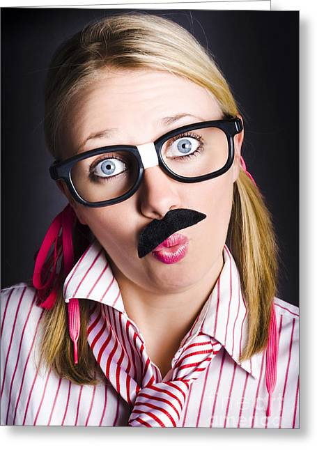 Funny Business Nerd With Innovative Breakthrough Greeting Card by Jorgo Photography - Wall Art Gallery