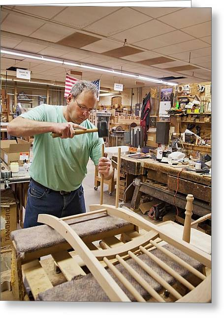 Furniture Crafts Manufacturing Greeting Card by Jim West