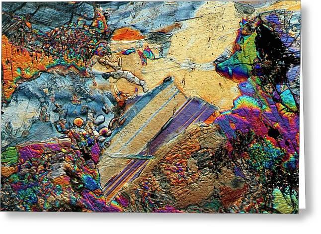 Gabbro Microcrystals Greeting Card by Antonio Romero