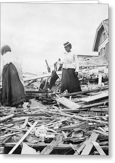 Galveston Hurricane, 1900 Greeting Card
