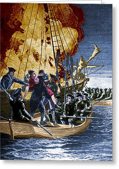 Gaspee Affair, 1772 Greeting Card by Science Source
