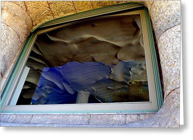 Gaudi Greeting Card by Olga Breslav