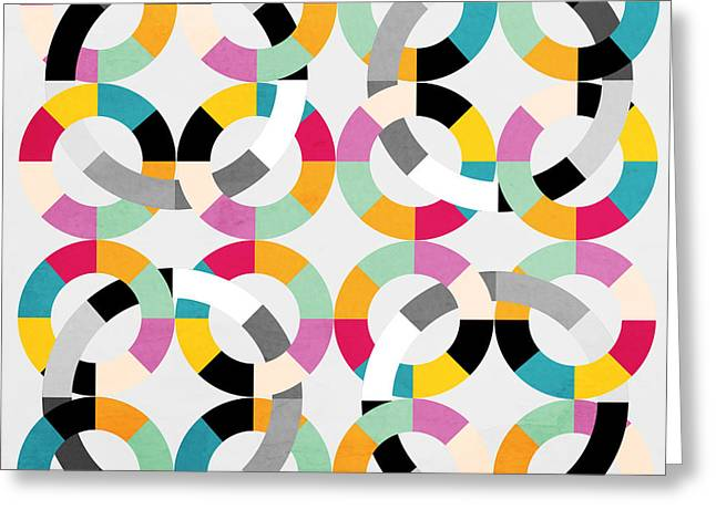 Geometric  Greeting Card by Mark Ashkenazi