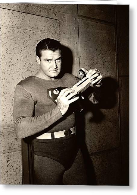 George Reeves In Adventures Of Superman  Greeting Card