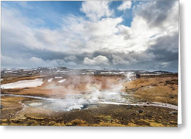 Geothermal Area Seltun Heated Greeting Card by Martin Zwick