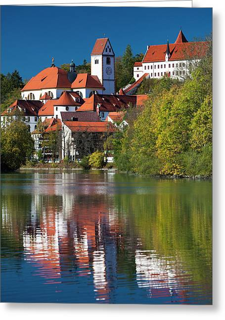 Germany, Bavaria, Fussen, St Greeting Card by Walter Bibikow