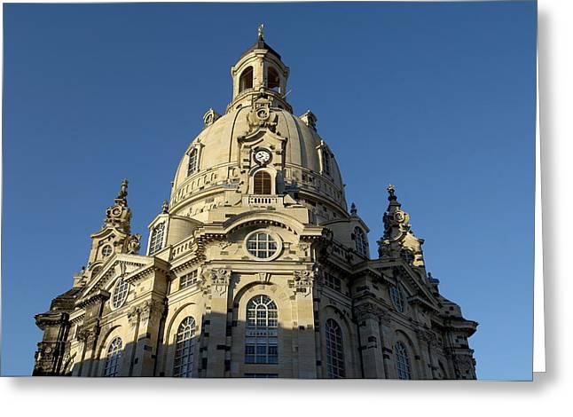 Germany, Saxony, Dresden, Frauenkirche Greeting Card