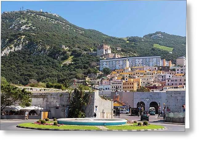 Gibraltar.  Moorish Castle Greeting Card by Ken Welsh