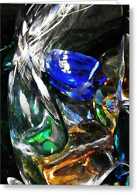 Glass Abstract 126 Greeting Card by Sarah Loft
