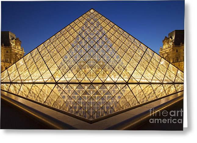 Glass Pyramid Greeting Card by Brian Jannsen