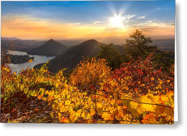 Golden Hour Greeting Card by Debra and Dave Vanderlaan