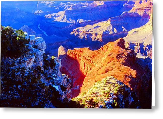 Grand Canyon From Hermit's Rest Road Greeting Card