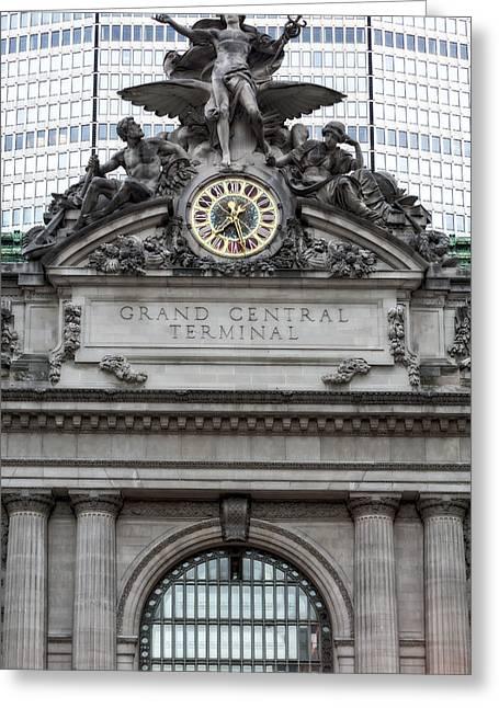 Grand Central Terminal Facade Greeting Card by Susan Candelario