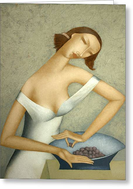 Grapes Greeting Card by Nicolay  Reznichenko