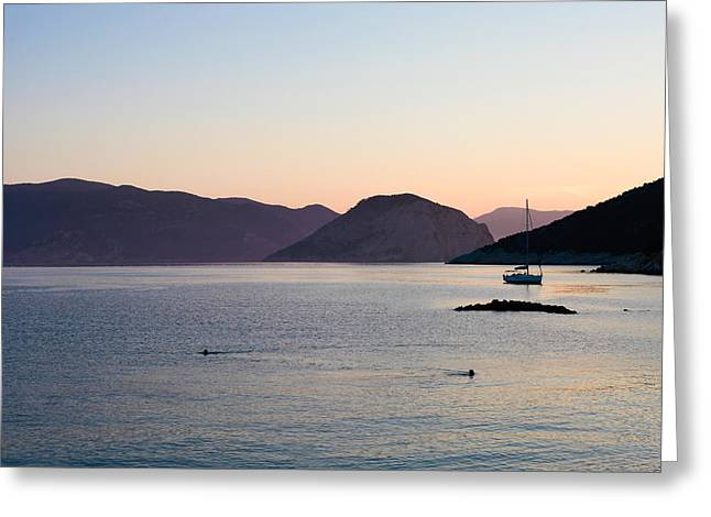 Greek Islands Greeting Card by Tom Gowanlock