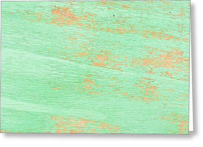 Green Wood Greeting Card
