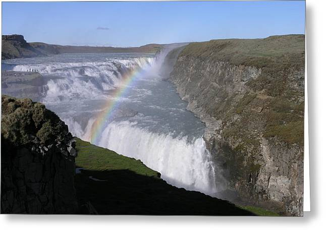 Gullfoss Greeting Card by Christian Zesewitz