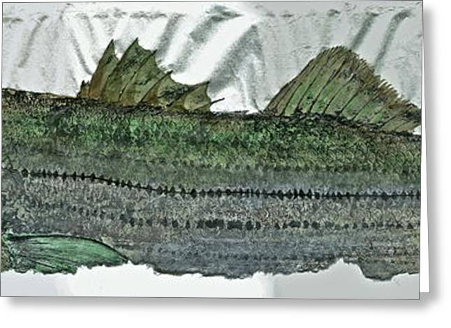 Gyotaku - Striped Bass - Rock Fish - Striper Greeting Card