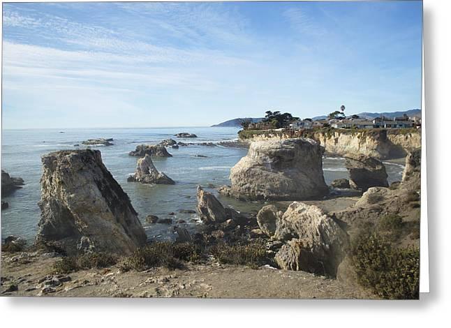 Hazy Lazy Day Pismo Beach California Greeting Card by Barbara Snyder