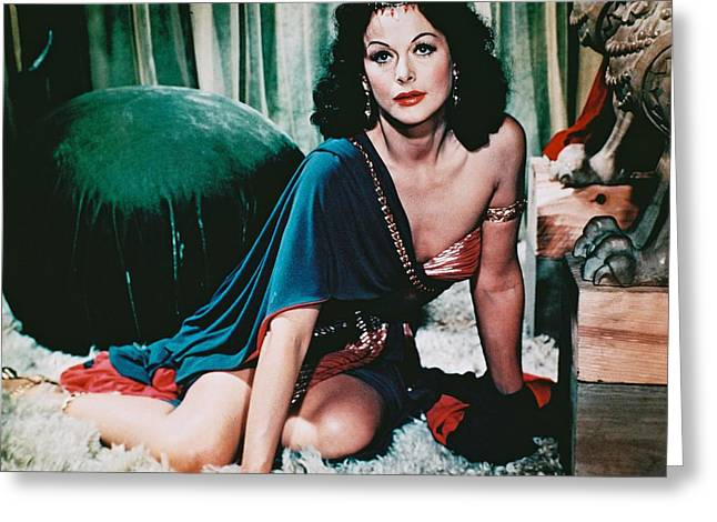 Hedy Lamarr In Samson And Delilah  Greeting Card by Silver Screen
