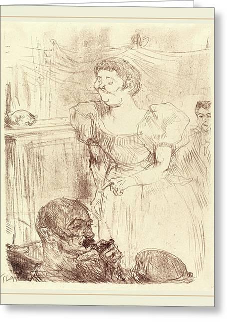 Henri De Toulouse-lautrec French, 1864-1901 Greeting Card
