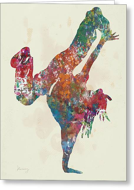 Hip Hop Street Dancing  Pop Stylised Art Poster Greeting Card