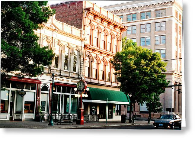Historic Buildings Along Main Street Greeting Card by Nik Wheeler