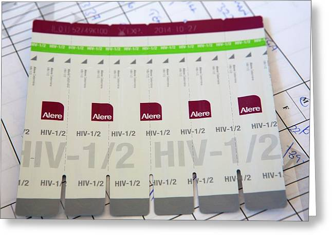 Hiv Aids Testing In Zimbabwe Greeting Card