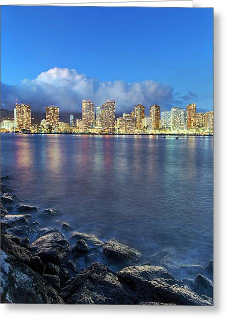 Honolulu Skyline Greeting Card