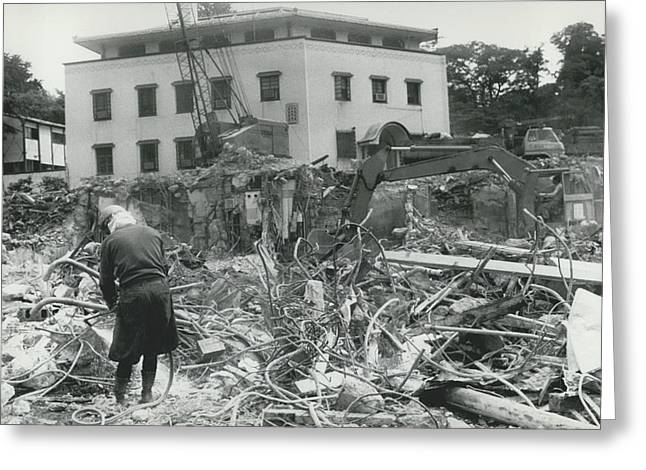 �hoover�s Folly� In Tokyo Demolished Greeting Card by Retro Images Archive