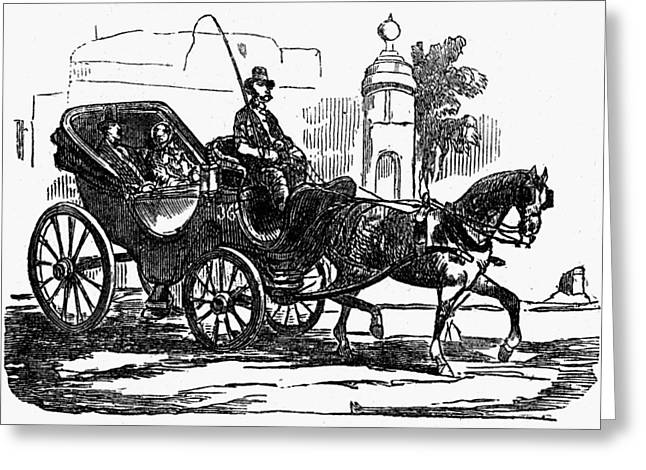 Horse Carriage, 1853 Greeting Card