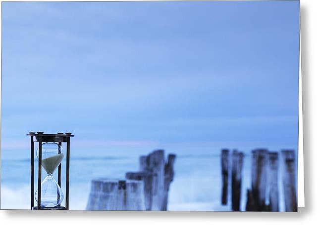 Hourglass Blue Sky Greeting Card