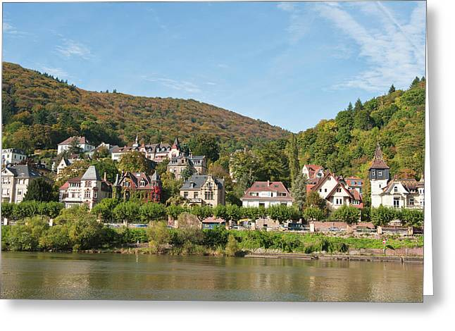 Houses On The North Side Of Neckar Greeting Card by Michael Defreitas