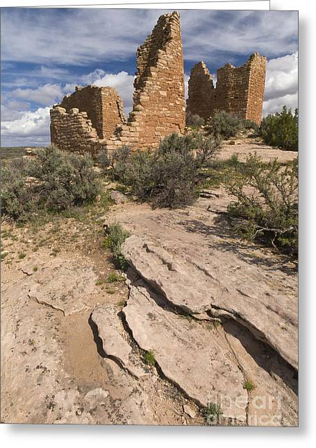 Hovenweep Castle Ruins Greeting Card by John Shaw